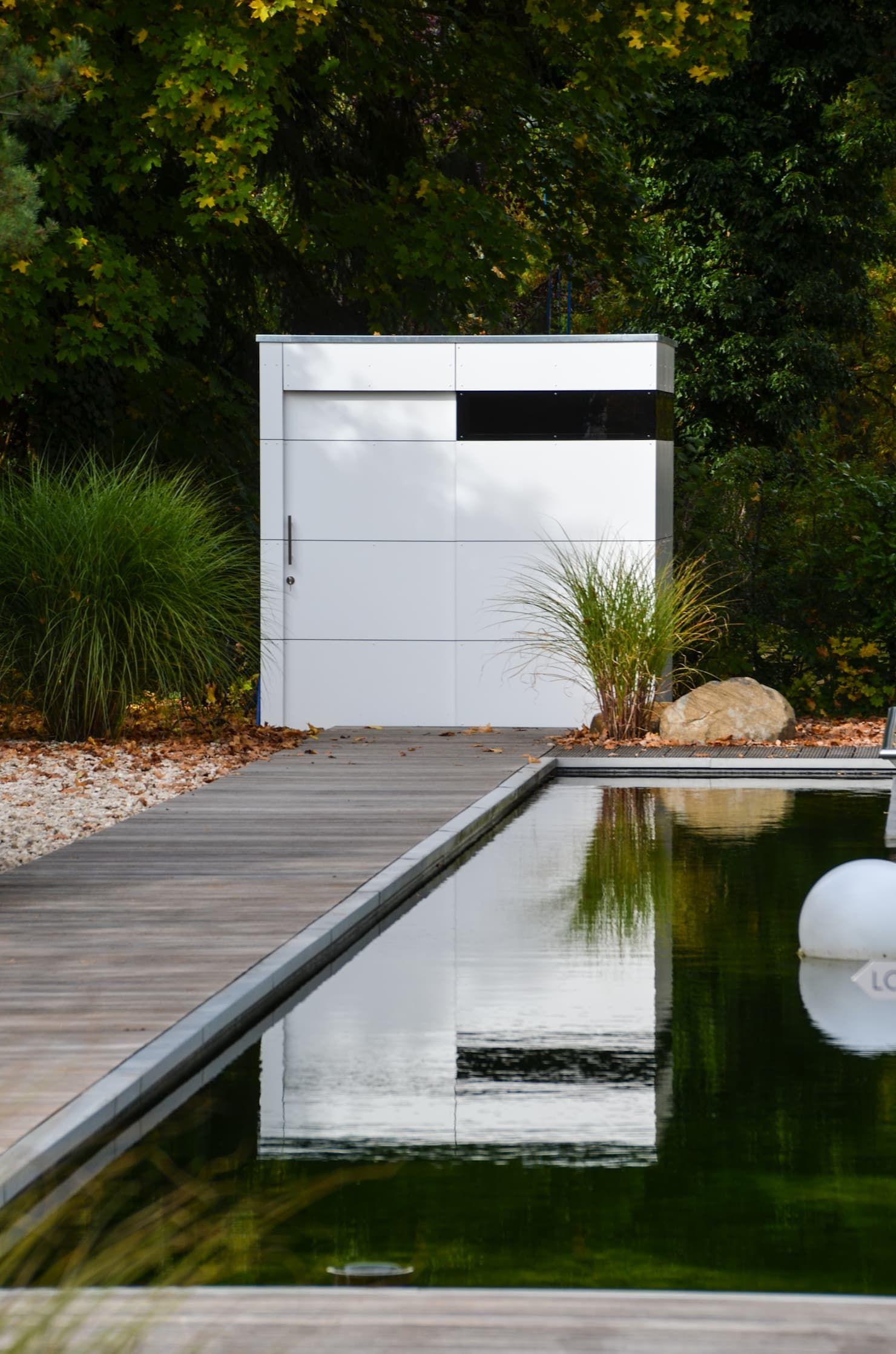 Gartenhaus @gart zwei – münchen minimalistischer garten von design@garten – alfred hart – design gartenhaus und balkonschraenke aus augsburg minimalistisch holz-kunststoff-verbund | homify