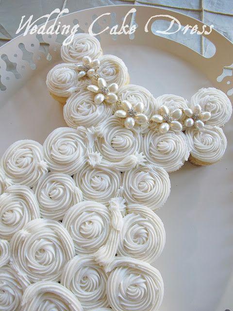 Bridal Shower Cupcake Wedding Dress | ca n see this dress cake being ...