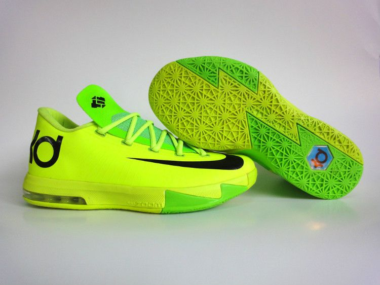 Hot 2015 Nike KD 6 Yellow Blue Red Black