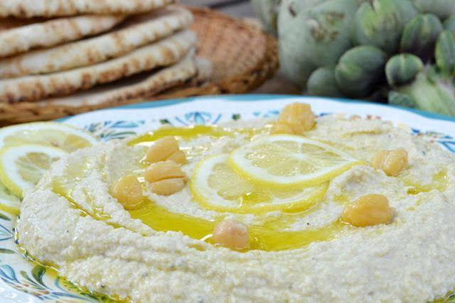 Lemony Artichoke Hummus