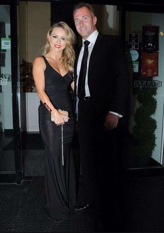 Strictly Come Dancing's Ola Jordan in Honor's Gold Gabriella Dress! Shop it now at http://www.spottedonceleb.com/clothing/honor-gold-gabriella-maxi-dress-in-black-gold.html