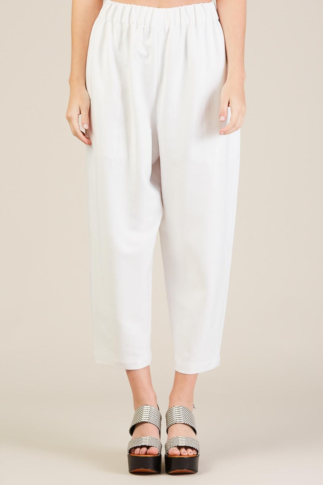 Pull on pants, white by Suzanne Rae