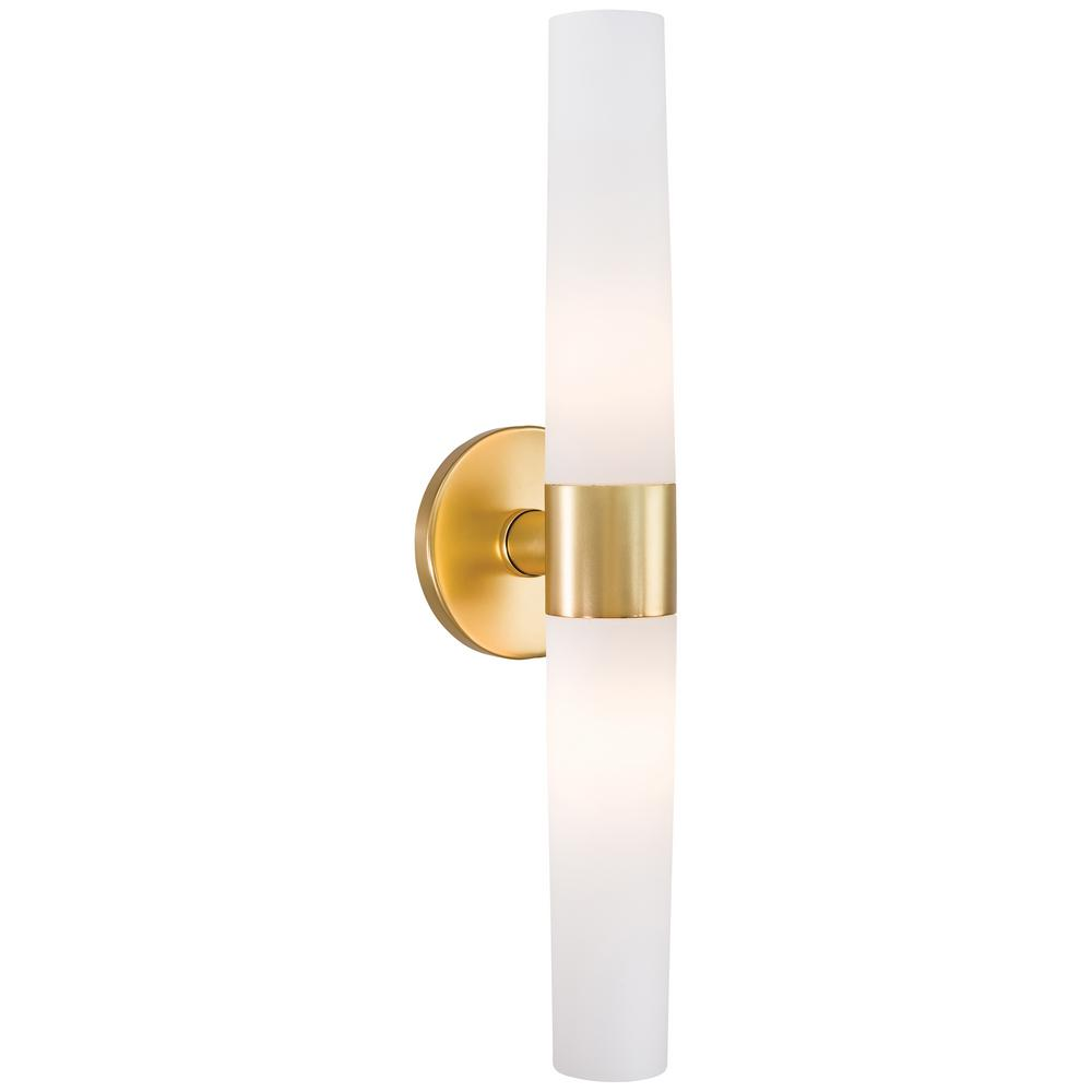 George Kovacs Saber 2 Light Honey Gold Wall Sconce P5042 248 The Home Depot Bathroom Wall Sconces Gold Wall Sconce Wall Sconce Lighting
