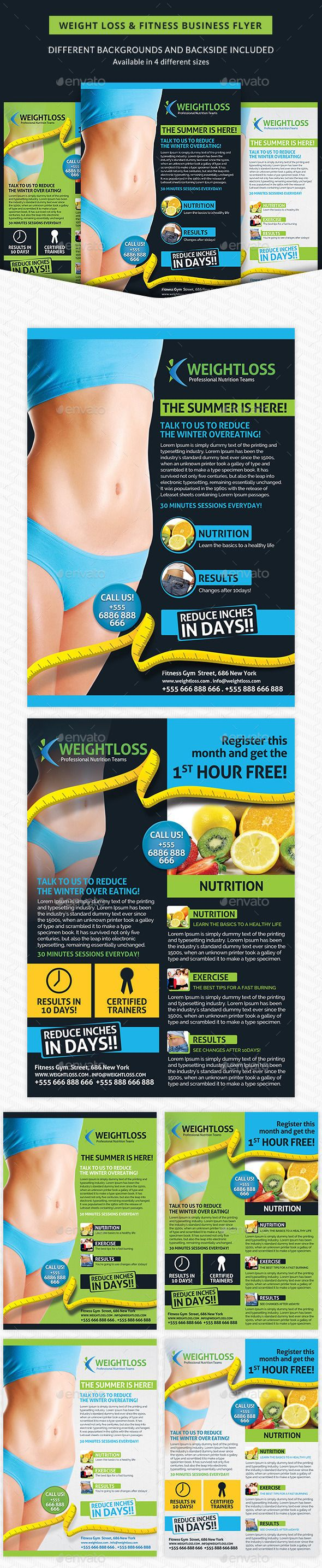 weight loss fitness business flyer business flyers business and