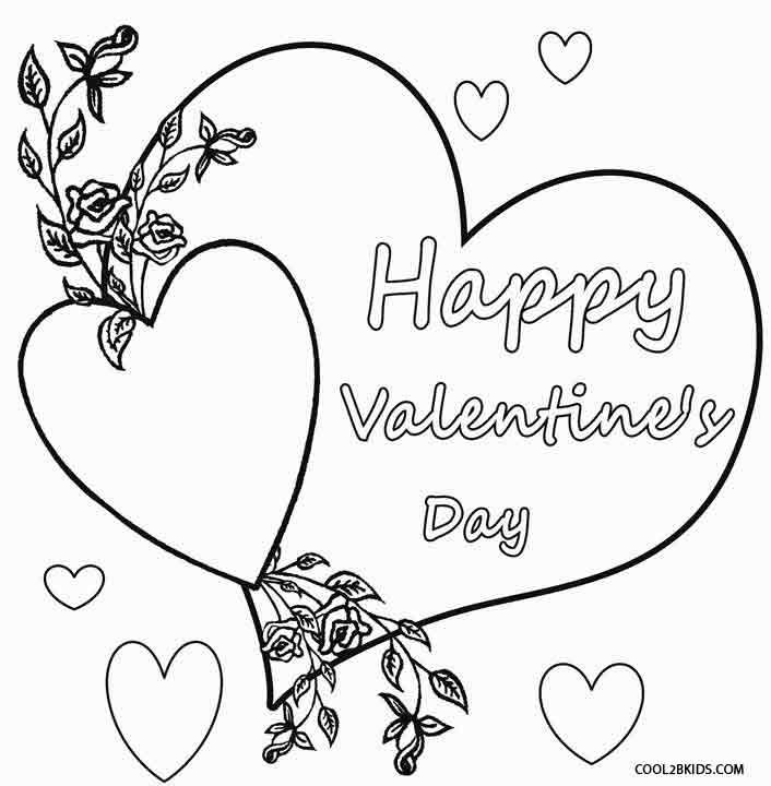 Valentine Coloring Pages | Printable valentines coloring ...