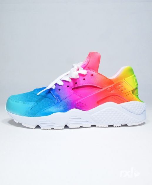 Nike Air Huarache Rxl Custom Rainbow Remix Line Navy Pink Yellow Trainer  Very light, very sensitive, very fine workmanship, welcome to our store to  buy.