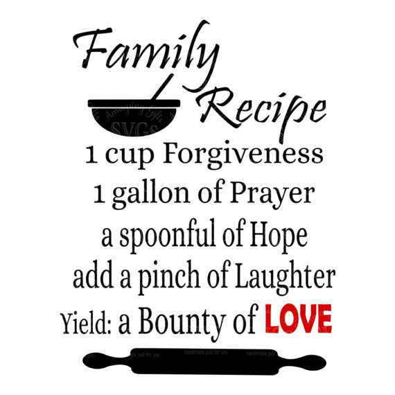 SVG - Family Recipe - Digital Vector Download Great Family ...