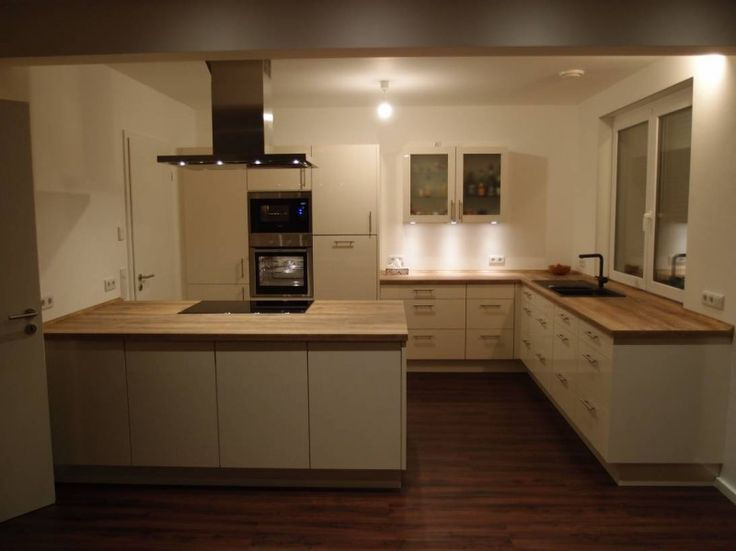 Offene LKüche mit Insel Neue küche, L küchen