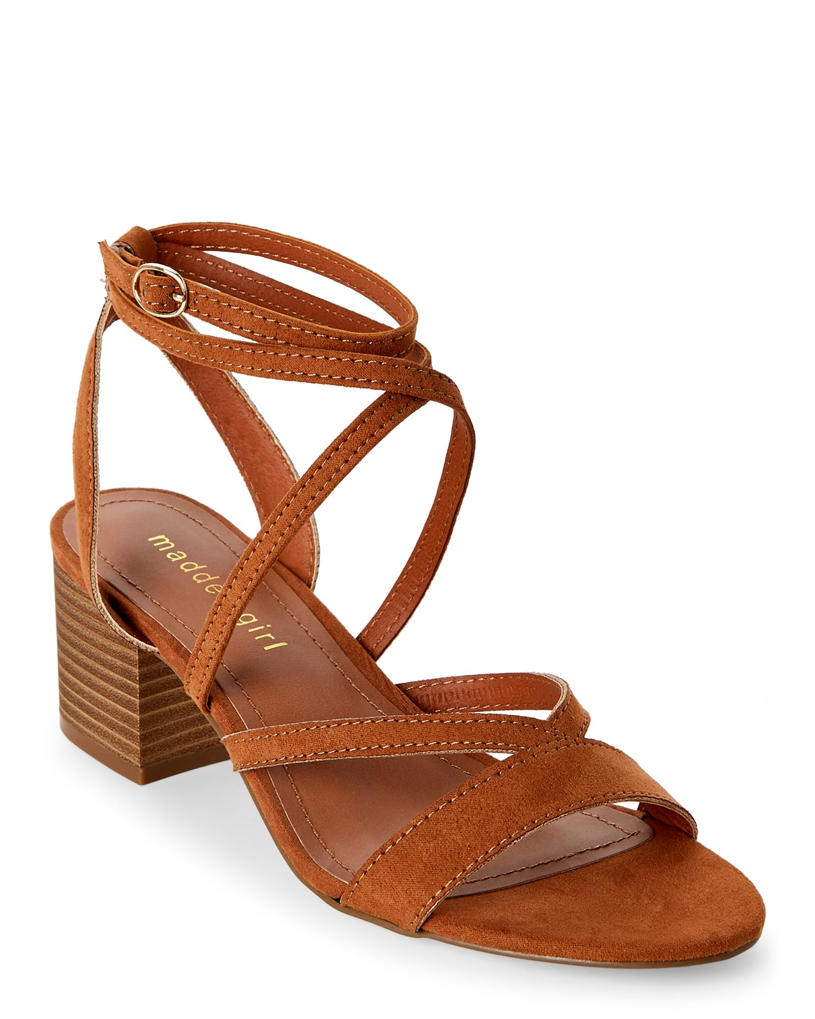 e90e05e3dcd Madden Girl Chestnut Leexi Strappy Block Heel Sandals