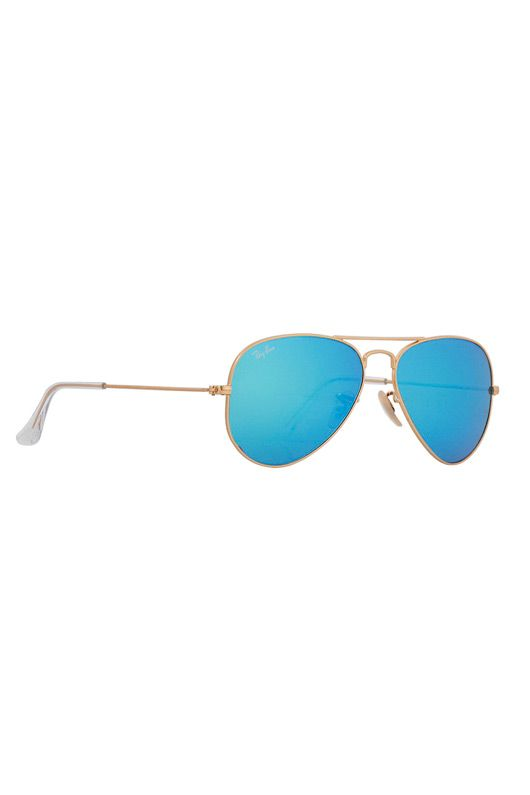 ray ban aviator 55mm blue mirror