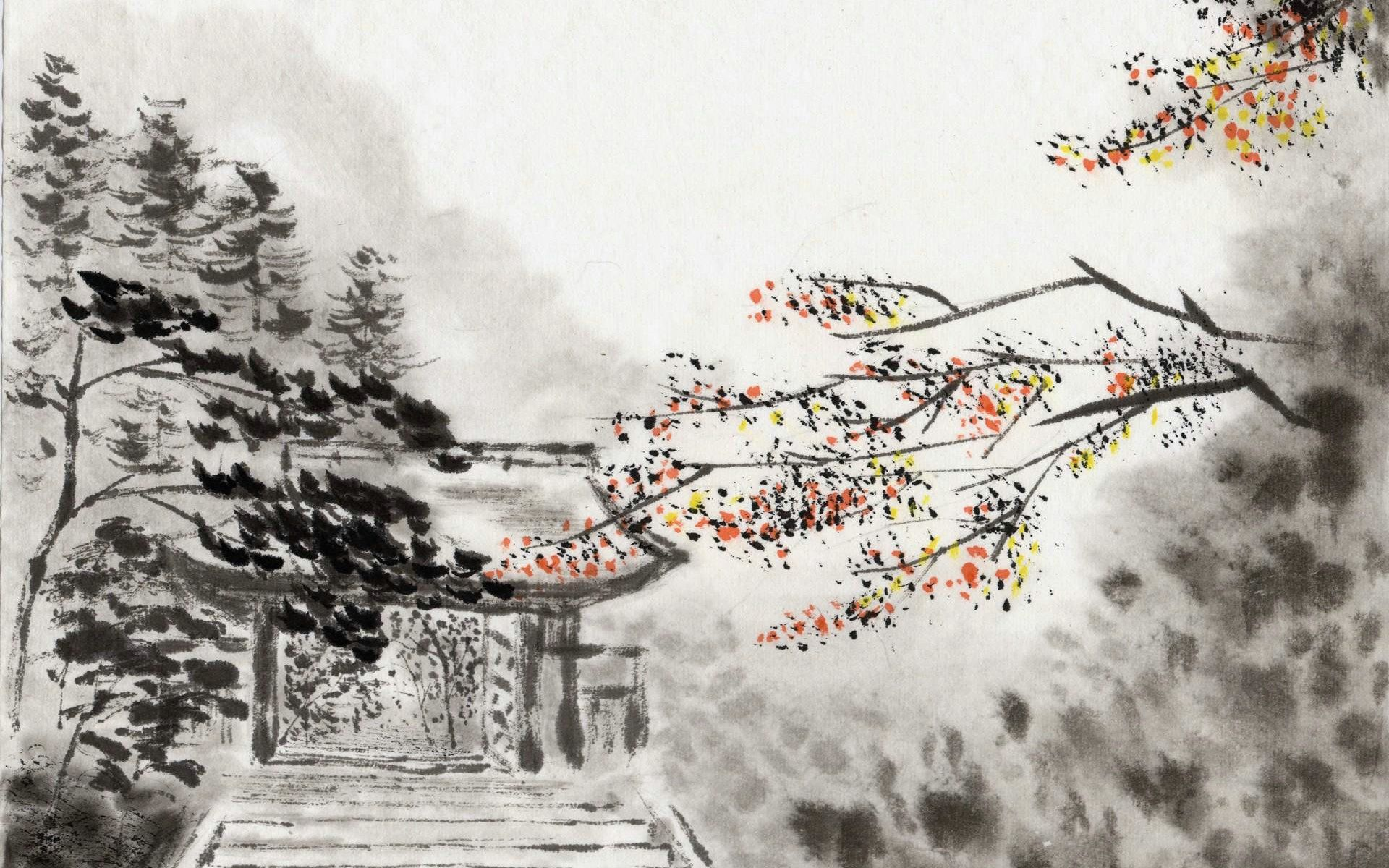 Best Chinese Style Ink Painting Landscape Hd Wallpaper Chinese Landscape Oriental Artwork Art Tablet