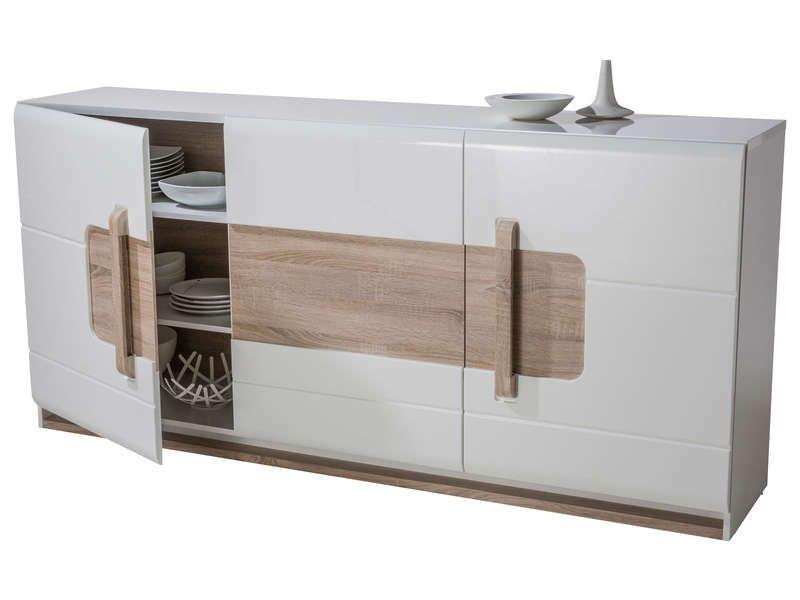 Buffet 3 portes LEVI coloris blanc | Conforama en 2019 ...