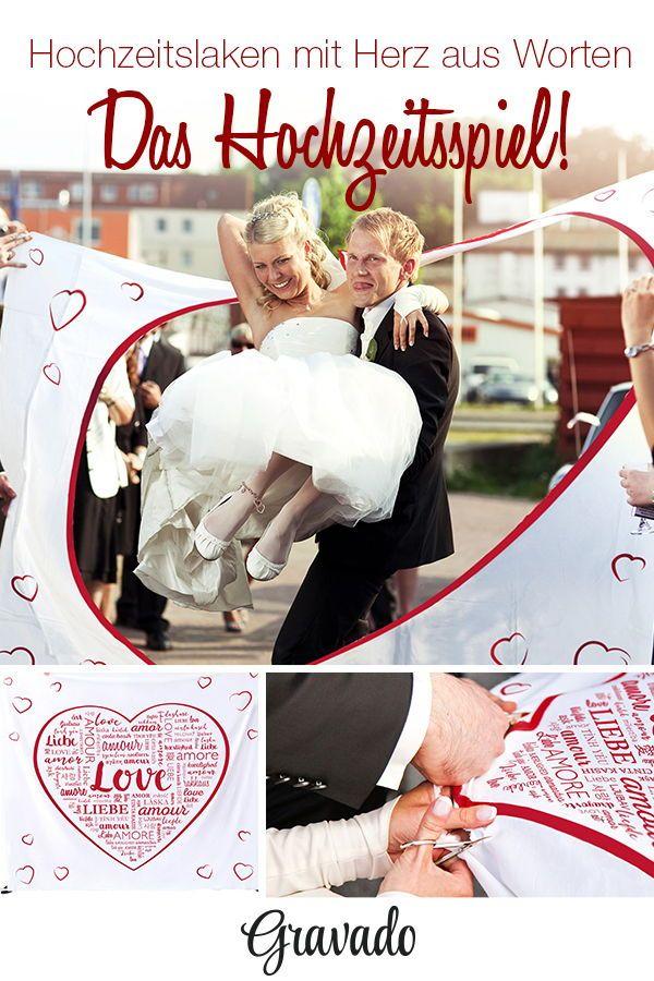 Hochzeitslaken Mit Romantischem Motiv Wortherz Hochzeit