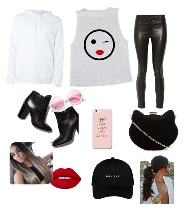 """😍😍😍😍"" by annanev9 ❤ liked on Polyvore featuring J Brand, Pierre Hardy, New Look, ZeroUV and Lime Crime"