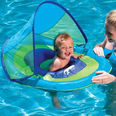 Swimways Baby Spring Float with Canopy | Outdoor | Baby pool toys ...
