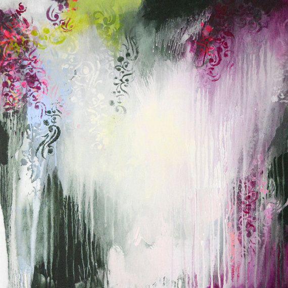 Original große abstrakte Malerei moderne Kunst von ARTbyKirsten