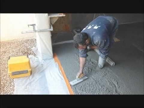 Béton ciré sol coulé minéral décoratif Weber (weber floor 4650 - maison en beton coule