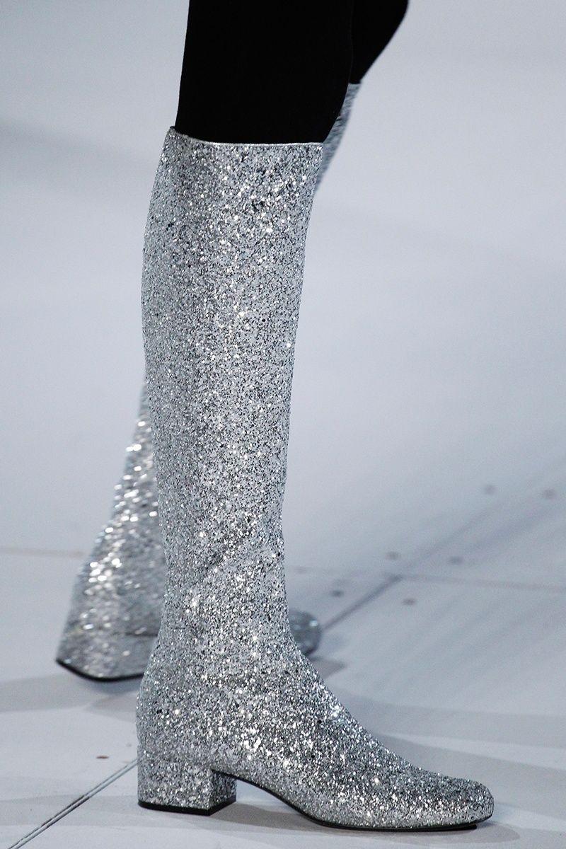 Boots, Saint laurent boots, Glitter boots
