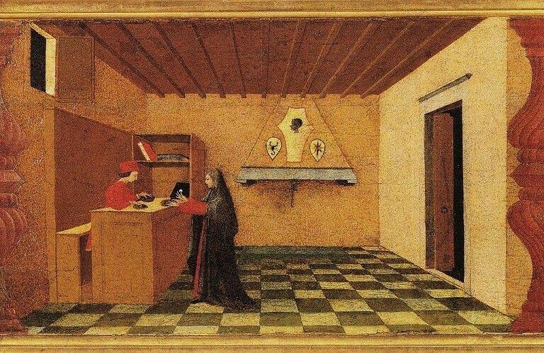Paolo Uccello, miracolo dell'ostia profanata, dettaglio
