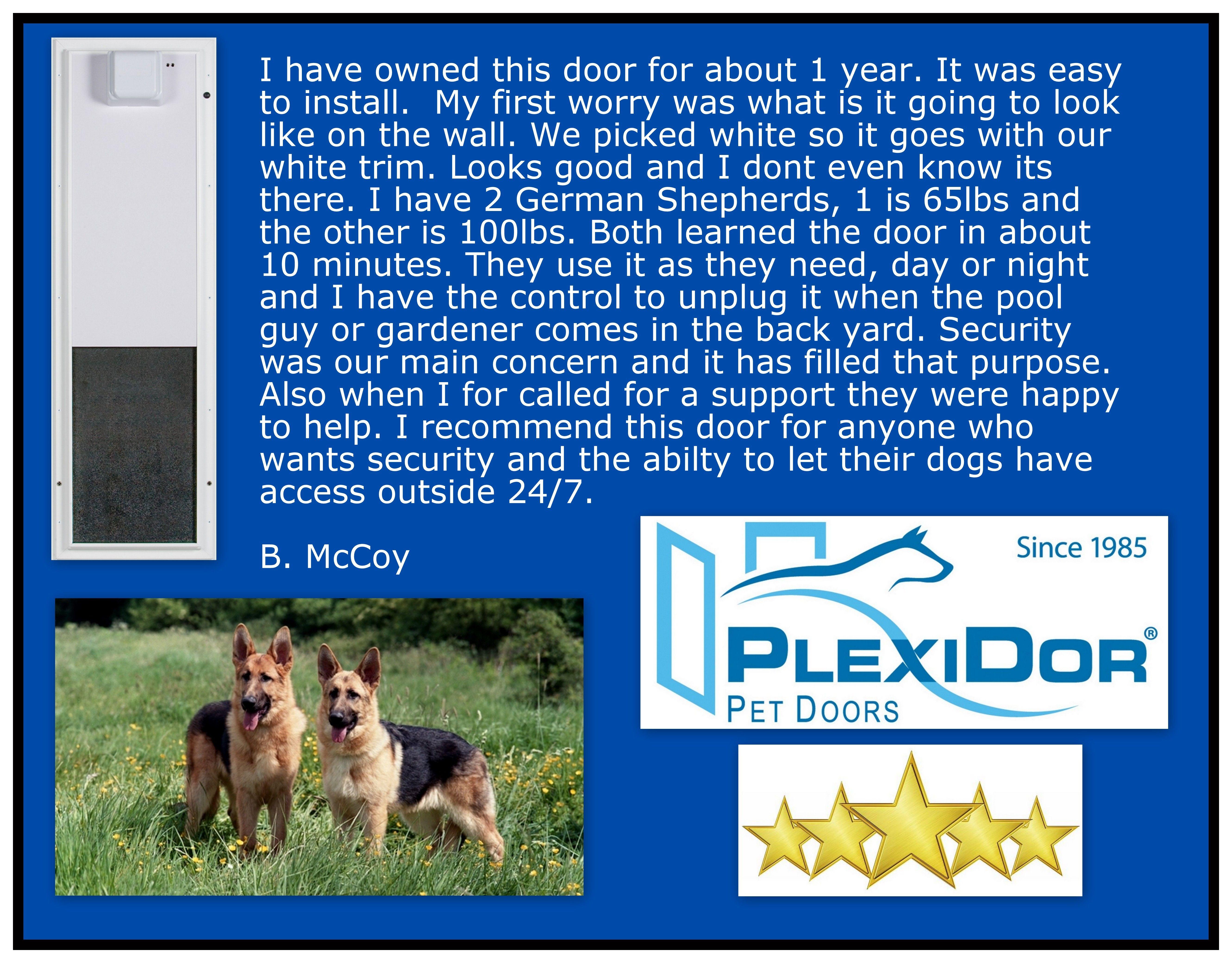 Plexidor Electronic Pet Door Pets Pet Door White Trim