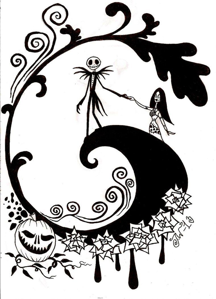 Nightmare Before Christmas Coloring Pages | Nightmare before ...