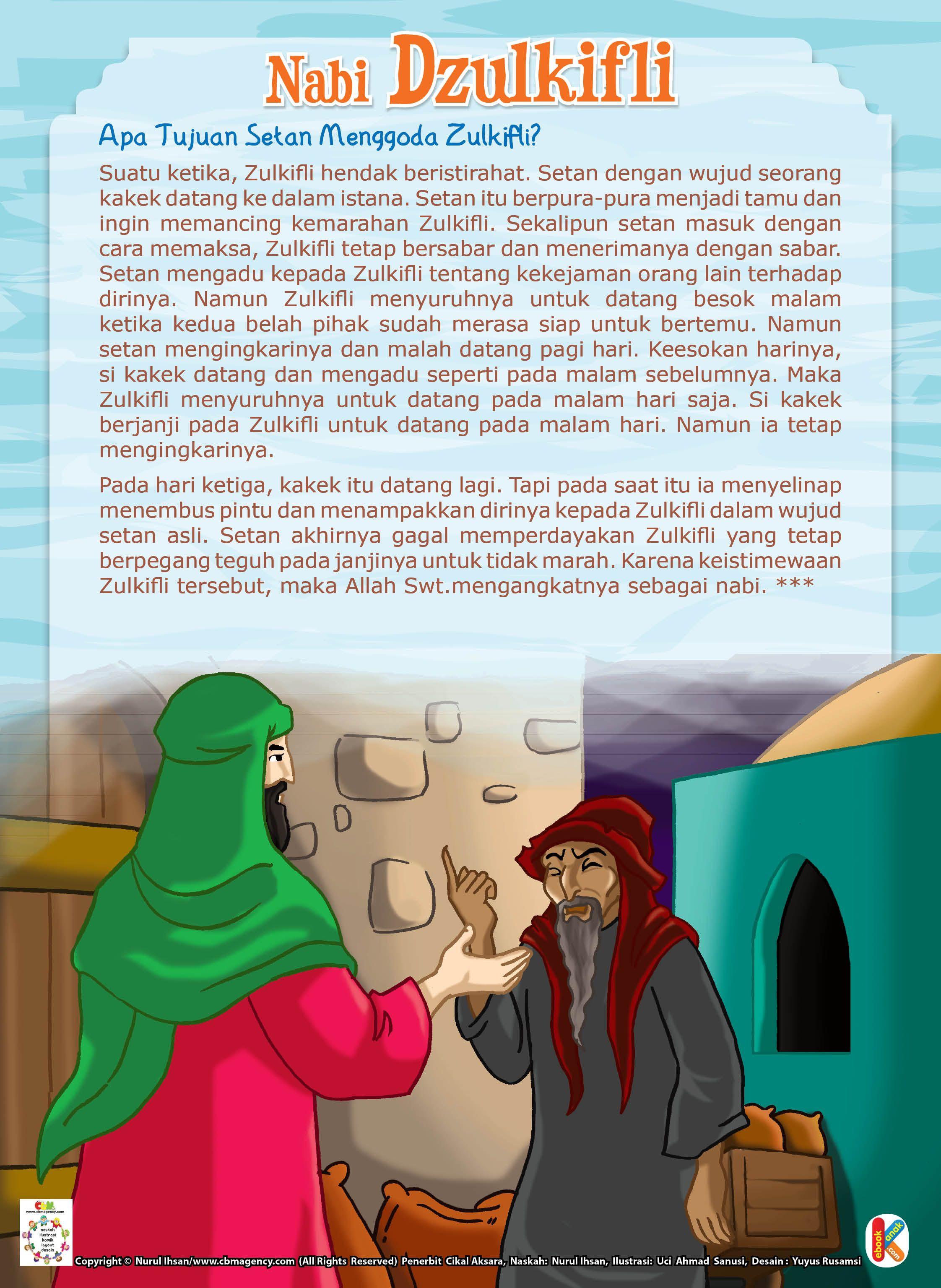 Sejarah Nabi Zulkifli : sejarah, zulkifli, Zulkifli, Digoda, Setan, Perawatan, Anak,, Pendidikan,, Dongeng, Sebelum, Tidur