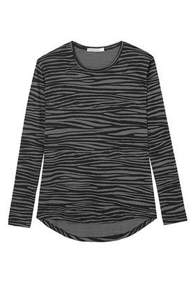 Relaxed Crew Top - Grey Zebra Layer Perfect - new on Shift to Nature 100% Organic Cotton