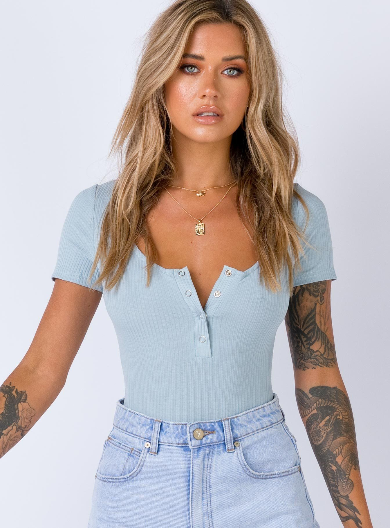 Catch 22 Bodysuit Dusty Blue US 0 / Dusty Blue