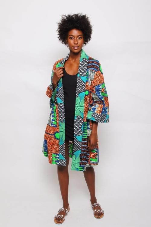 African Print Fatima Duster #africanprintdresses