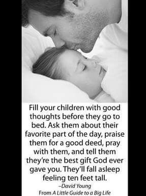Good thoughts at bedtime