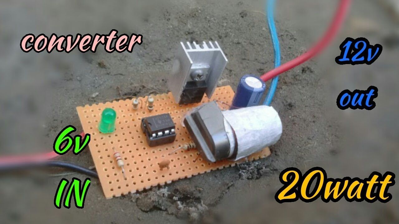 How To Make Step Up Converter Circuit 6v To 12v Converter Circuit Power