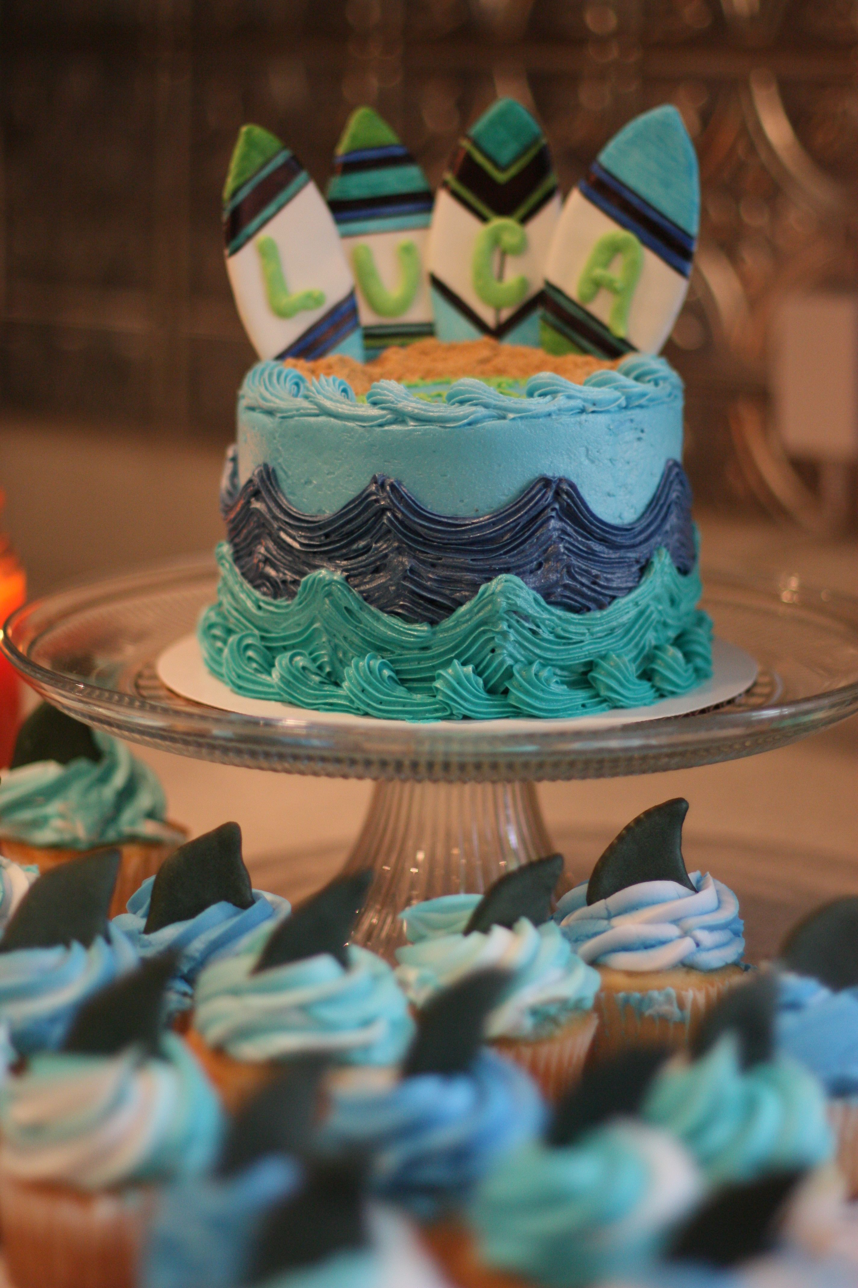 how to make surfboard cake toppers