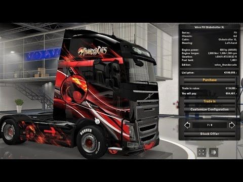 Ets 2 Thudercats Skin Mod For Volvo Fh12 With Images Volvo