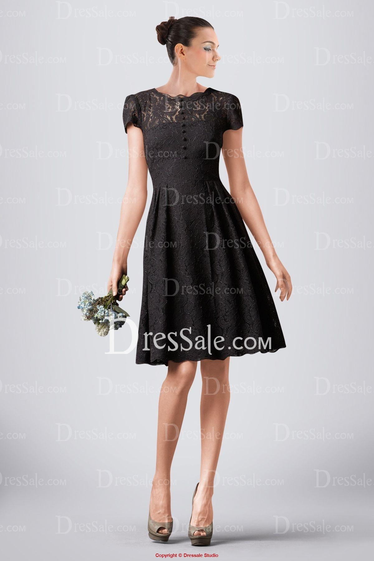 Exquisite black lace bridesmaid dress featuring vback design