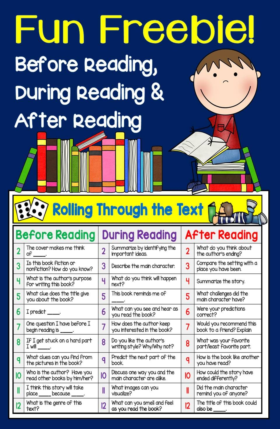 Fun Freebie for Reading Instruction! | TpT FREE LESSONS | Pinterest ...