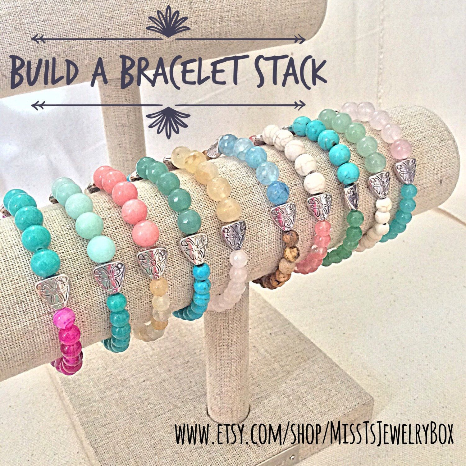 ✨Create your own Bracelet Stack to match YOUR unique style!✨Choose from these, and many more, in my Build a Bracelet Stack section✨20% off when you buy any 3 or more!! (coupon code in product descriptions)