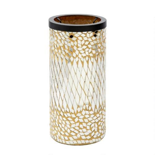 One of my favorite discoveries at ChristmasTreeShops.com: Mosaic Glass Candleholder
