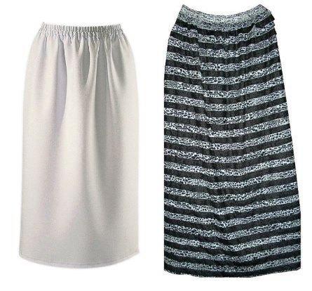 Как сшить юбку на большой резинке