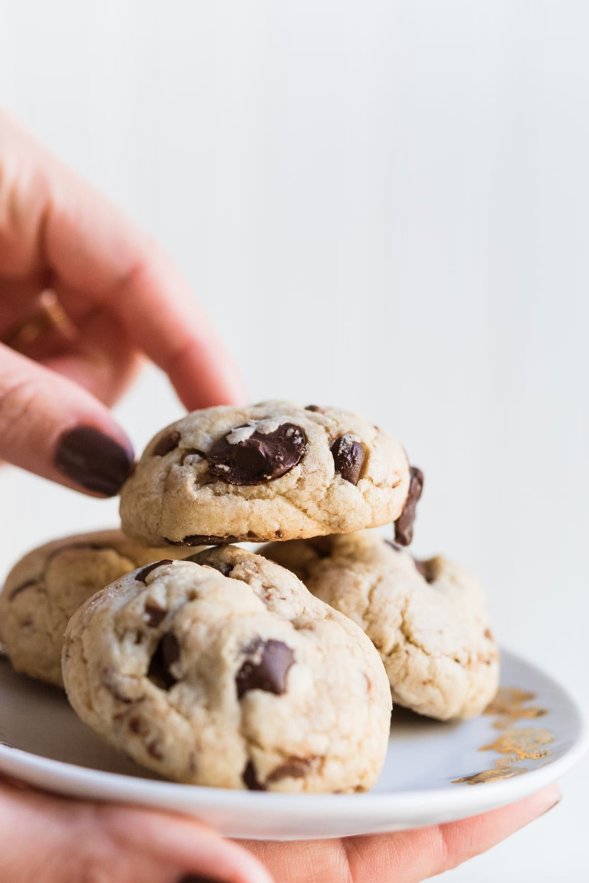 Dark Chocolate Chip Toffee Cookies With Pecans