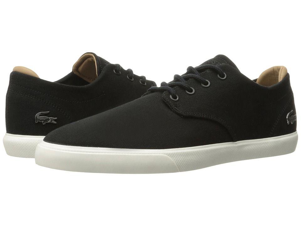 Zapatos negros casual Lacoste para hombre WCdH6UD5zL