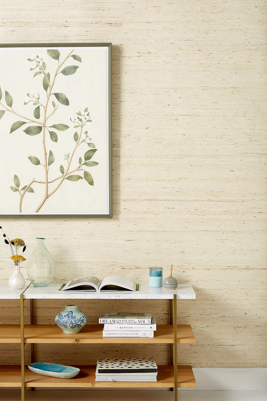Papier Peint Texture En Toile De Ramie Anthropologie French Canada Textured Wallpaper Grasscloth Wallpaper