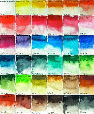 Mission Gold Watercolor : mission, watercolor, Mijello, Mission, Watercolor, Color, Chart, Mandy, Goeije, Watercolor,, Journal,