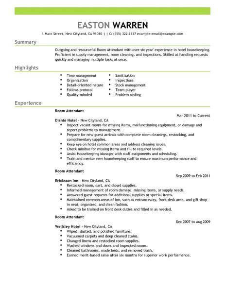 Hospitality Resume Examples Pinterest Resume examples - warehouse worker job description resume