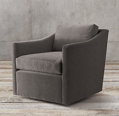 Oliver Slope Arm Swivel Chair Swivel Chair Eclectic