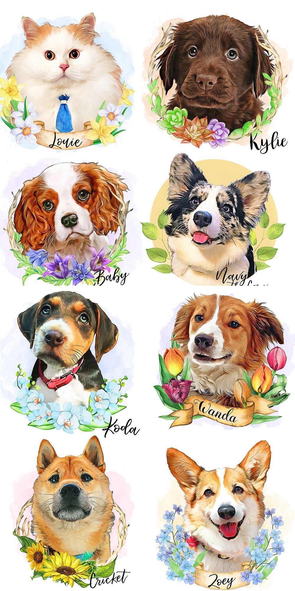 Custom pet portraitcustom dog portrait digital pet