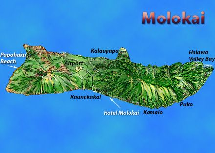 Hui Ho'olana - Molokai, Hawaii - Map
