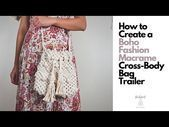 How To Macrame 2019 Fall Season Boho Cross Body Bag  Create 2019 Fall Season Fashion Macrame Boho Cross Body Bag in 1 Hour  YouTube baby teether bag bracelet classes adel...