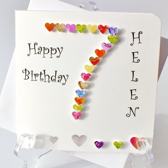 Handmade 3D 7 Card 7th Birthday By CardsbyGaynor On Etsy