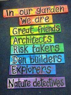 , What a special sign. Would be great for an outdoor classroom/garden area. Garden   Outdoor Classroom, Family Blog 2020, Family Blog 2020