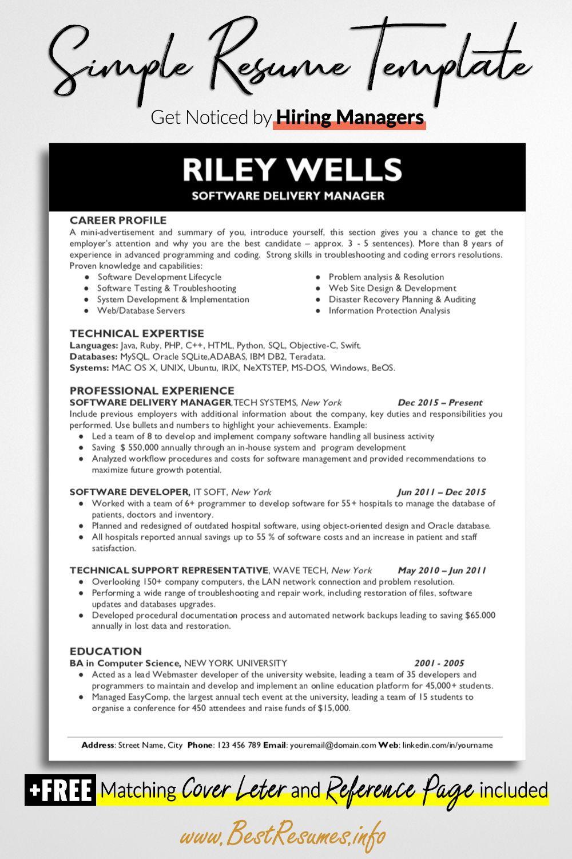 Resume Template Riley Wells Bestresumes Info Teacher Resume Template Business Resume Template Resume Template